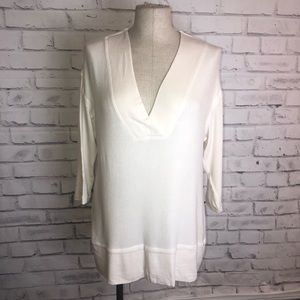 Cream Bobeau 3/4 sleeves tunic